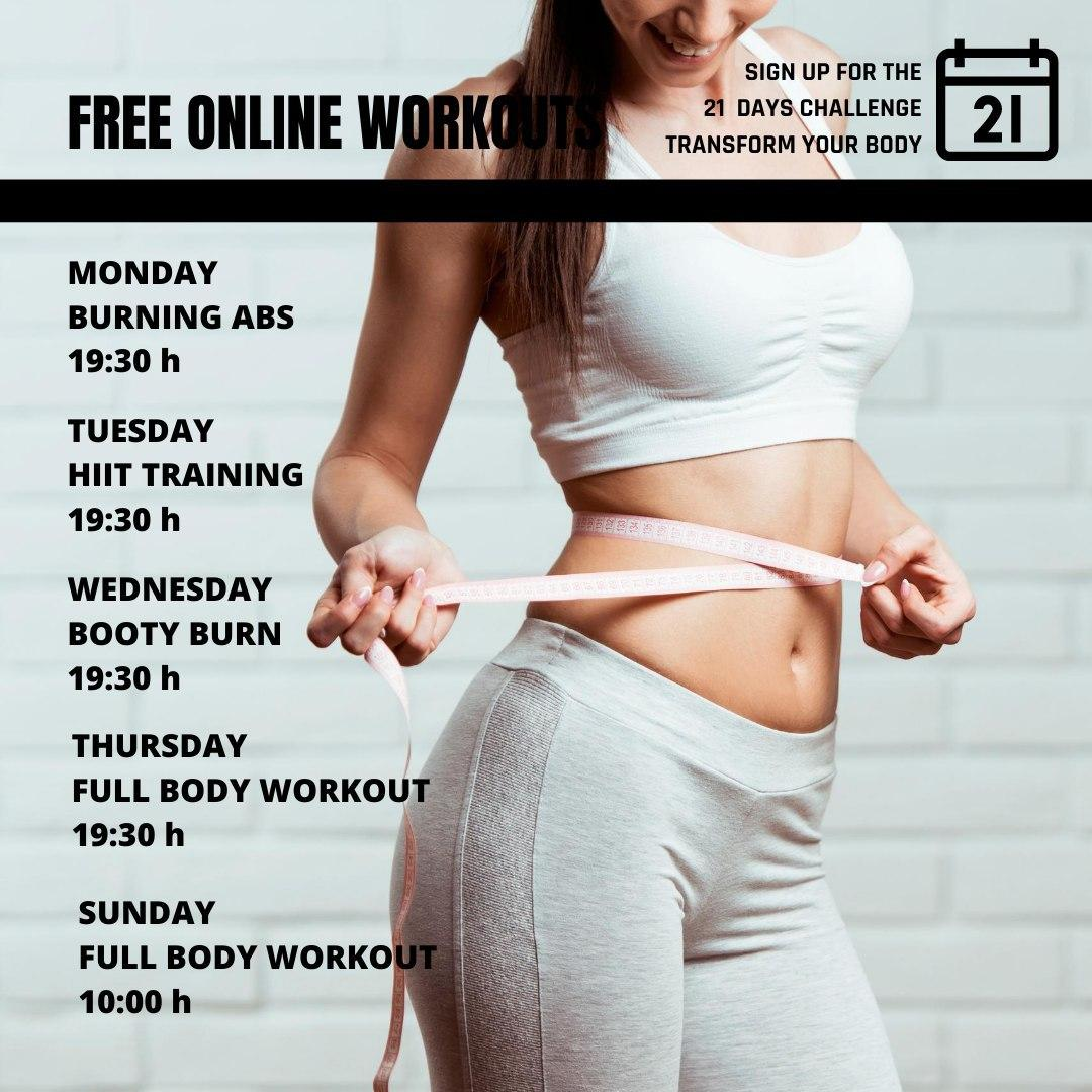 Free Online Workouts 2020